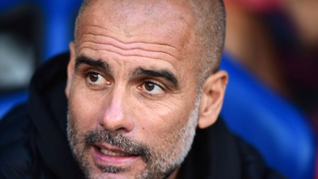 WATCHING ON: Pep Guardiola at Selhurst Park.