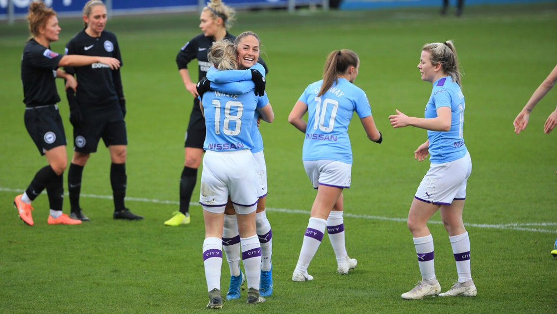 Five-star City ease to Brighton victory