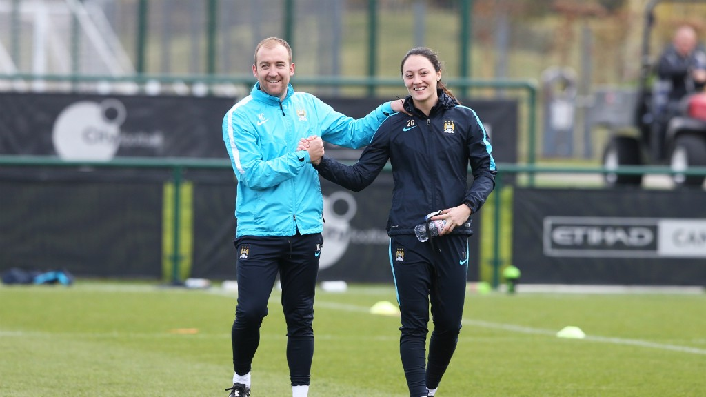 FIGHTING FIT: Megan Campbell is delighted to be back in contention for MCWFC.