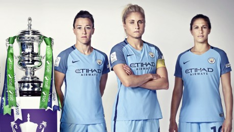 UP FOR THE CUP: Man City Women lock horns with Birmingham at Wembley in the FA Cup final