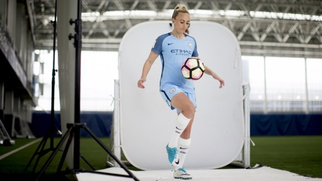 SHARP SHOOTER: Toni Duggan has played a key role in Man City Women's incredible journey