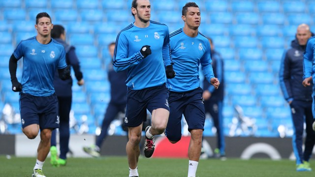 REAL ON THE RUN: Los Blancos get down to business at Etihad Stadium
