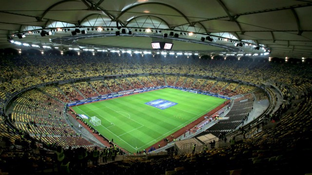 ARENA NATIONALA: City will face Steaua Bucharest here during their Champions League play-off round tie.