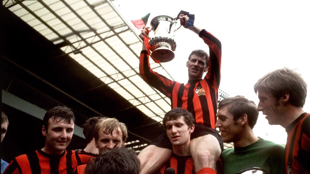 1969 FA CUP TRIUMPH: Tony Book wins another trophy