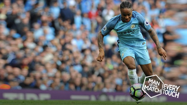 STAR TURN: Raheem Sterling wowed the Etihad crowd against Sunderland