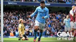 KING KUN: Sergio Aguero netted his third goal in four games against West Ham in 2013
