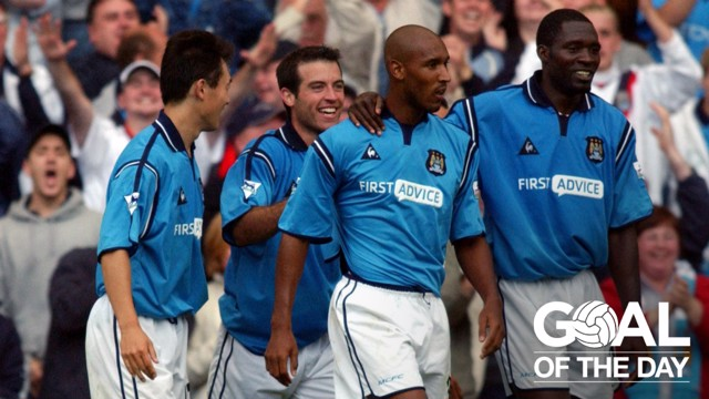 C'EST MAGNIFIQUE: Nicolas Anelka was the star man when City hosted Everton in August 2002