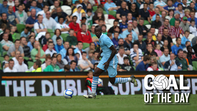 WAAAY UP: Balotelli flies high for the Goal of the Day