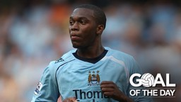 STURRIDGE: The then-18 year old rifled the ball home in the 65th minute to give City the lead against West Ham in 2008.