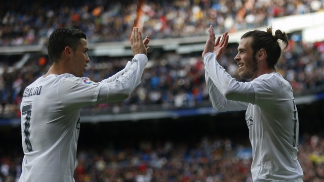 REWARD: Real Madrid want Bale and Ronaldo to extend their stay at the Bernebeu until 2021.