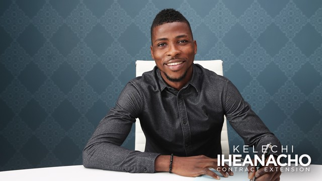 ALL SMILES: Kelechi Iheanacho has committed his long-term future to City, penning a new contract