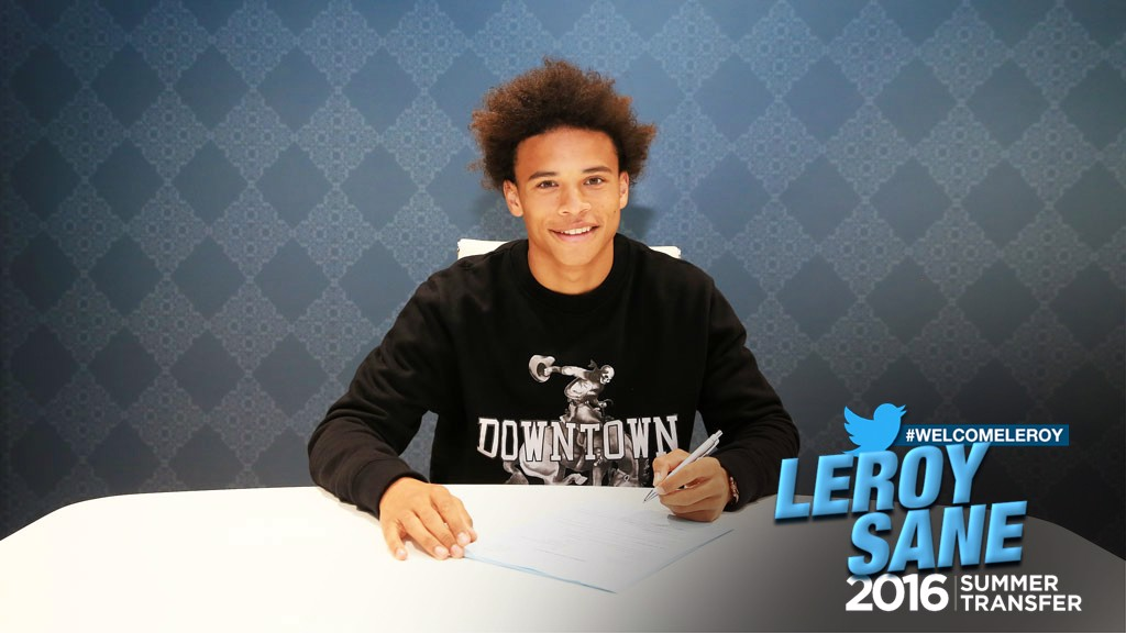 #WELCOMELEROY: Sane was born in Essen - Germany's sixth largest city - to an athletic family