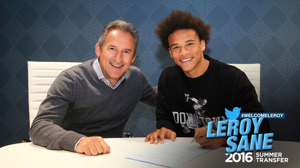 WELCOME LEROY: Sane made his debut for the Gelsenkirchen club as a 77th minute substitute for fellow youngster Max Meyer on the 20 April 2014