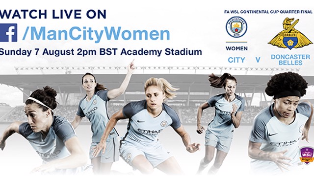 LEADERS: Table-topping Man City Women will broadcast their Continental Tyres Cup game against Doncaster on Facebook Live