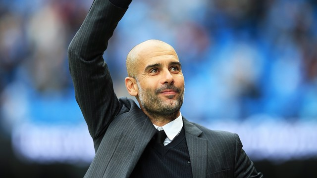 PEP TALK: The Catalan is delighted to be City boss