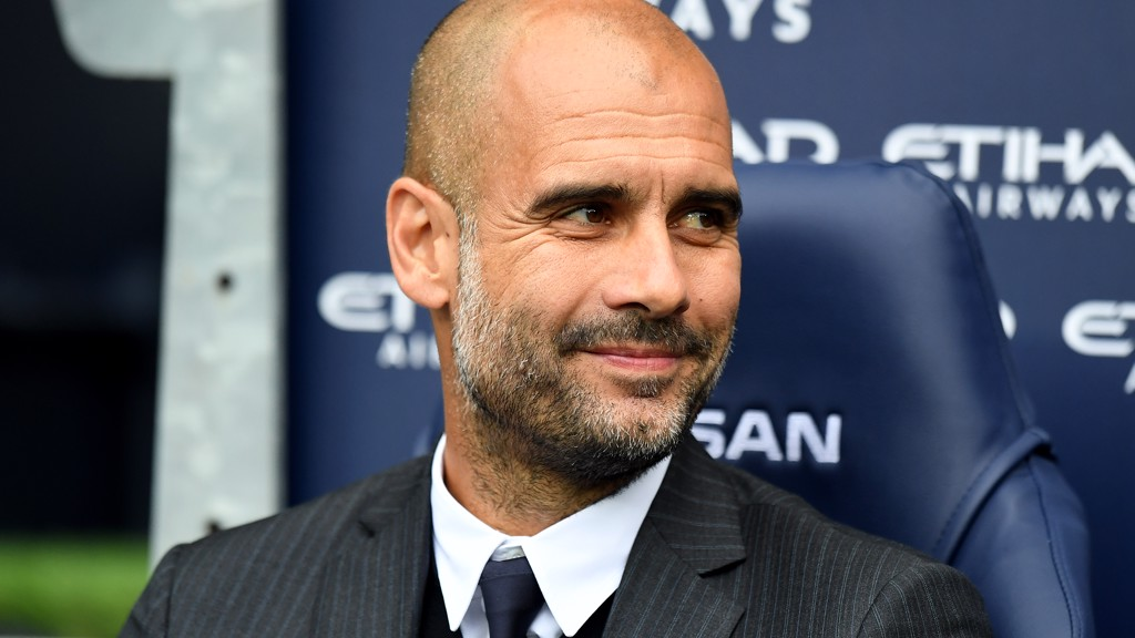 ALL SMILES: Pep was pleased with City's defensive performance against Sunderland