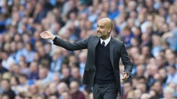 INSTRUCTIONS: Pep marshals his side in City's 2-1 win over Sunderland