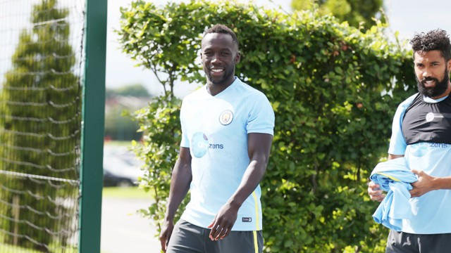 GOOD TO BE BAC! Sagna is all smiles on his return to CFA