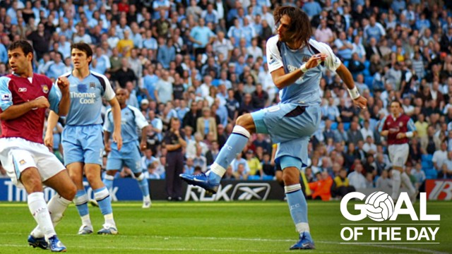GREEK ART: Georgios Samaras opens the scoring against West Ham with a fine chest-and-finish