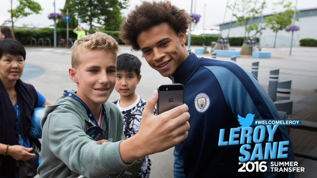 LET ME TAKE A SELFIE: Sane already a hit with the fans!