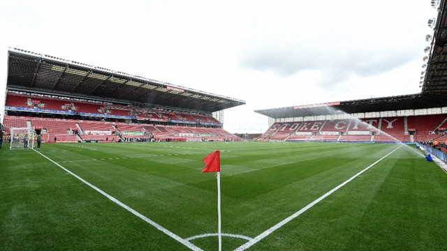 WET AND WINDY: Stoke's Bet365 stadium is renowned for its difficult playing conditions.