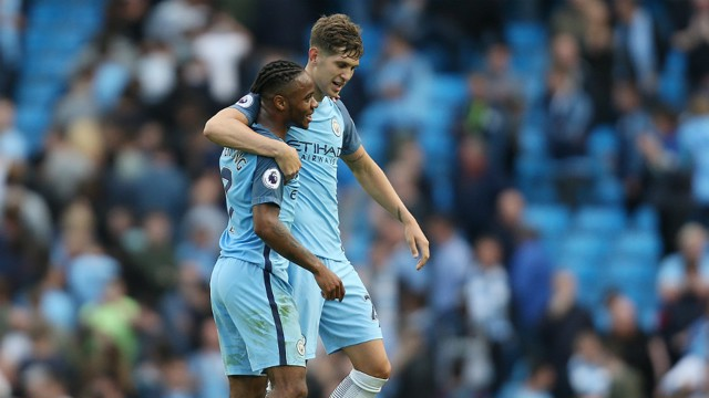 ENGLAND PAIR: John Stones and Raheem Sterling will be just two of City's internationals heading out this week