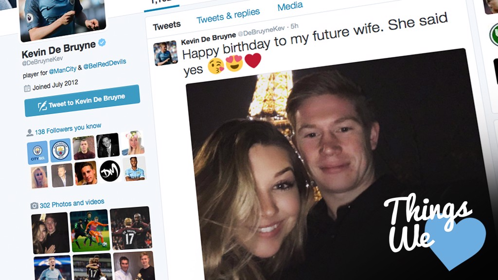 ENGAGEMENT NEWS: Kevin De Bruyne announced his proposal to his fiancee on social media