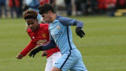 UNITED: Brahim Diaz in action against Manchester United