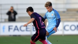 LATIBEAUDIERE: City's defender in UEFA Youth League action against FC Barcelona