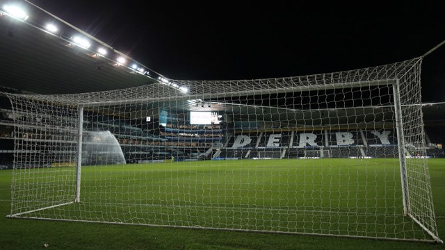 PRIDE PARK: City came up against Derby County at the iPro Stadium in their latest Premier League Cup tie