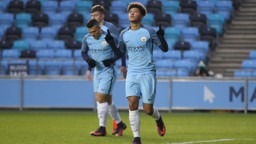 GOALGETTER: Jadon Sancho scored an impressive hat-trick in Manchester City's demolition of Blackburn