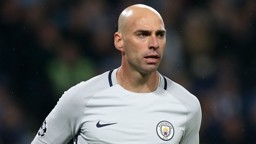 CABALLERO: City's Argentinian goalkeeper performed well in Tuesday's draw with Celtic