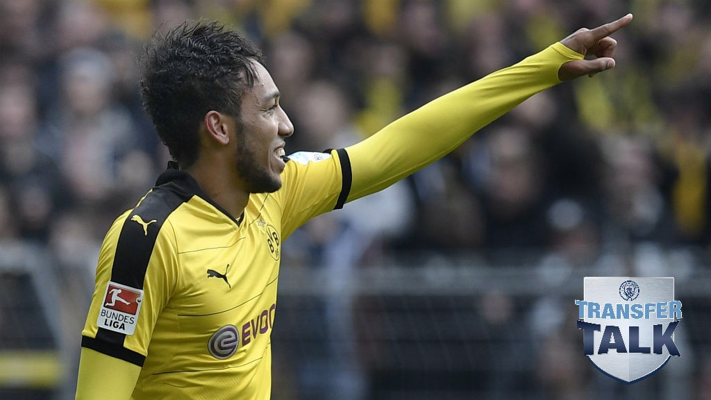 STRIKER: Could Aubameyang be on his way to Manchester?