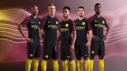 AWAY DAYS: The boys will be wearing this kit on their travels this season.