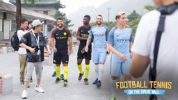 SOCIAL REACTION: Football Tennis on The Great Wall