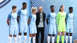 NEW ERA: The 2016/17 Nike kit was unveiled at the Cityzens Weekend event