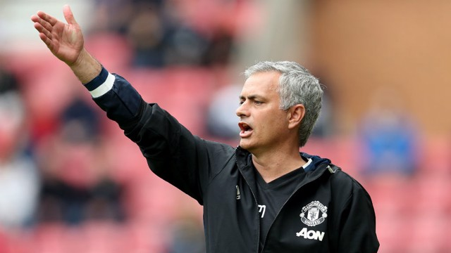 EXPECTANT: Mourinho thinks he should win the Premier League in his first year at Old Trafford.