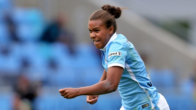 ON FIRE: Nikita Parris is in excellent form for MCWFC