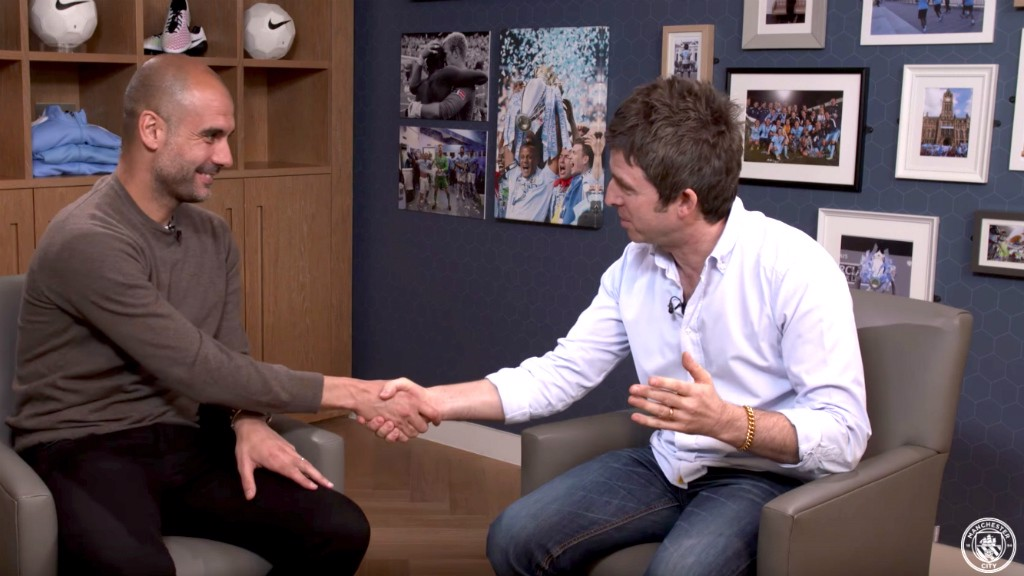 Pep meets Noel: First interview clip
