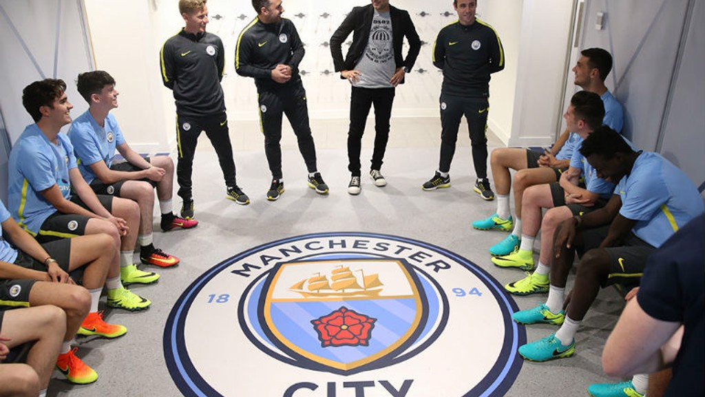 Surprise! Pep meets Cityzens at 2016/17 kit launch