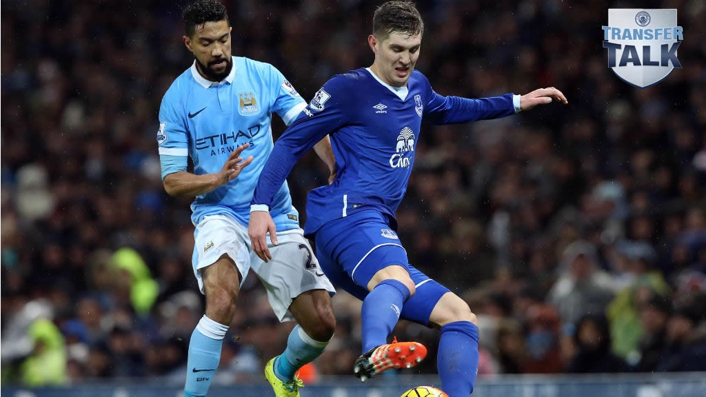 MORE RUMOURS: John Stones (right) in action against City's Gael Clichy last season