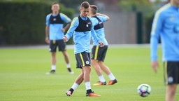 ON THE BALL: Bersant Celina in action