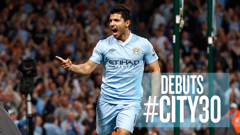 WHAT ABOUT THAT, THEN? Sergio Aguero made an immediate impact in his first competitive appearance for City at home to Swansea in August 2011