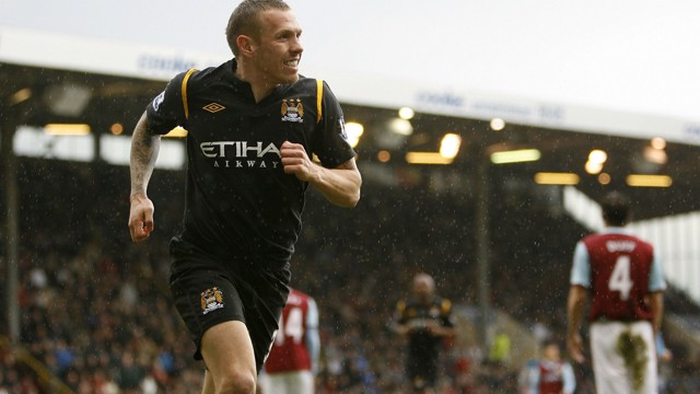 SIXY FOOTBALL: Rampant City thrashed Burnley in 2010, with Craig Bellamy on the scoresheet