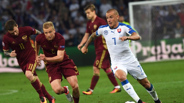SLOVAKIAN HERO: Weiss scored a brilliant opener versus Russia on Wednesday