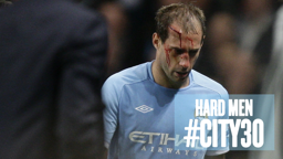 NONE HARDER: Pablo Zabaleta takes one for the team  - again