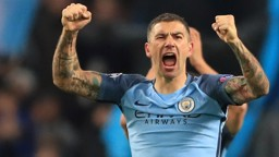 PASSION: Kolarov after City's win over Barca