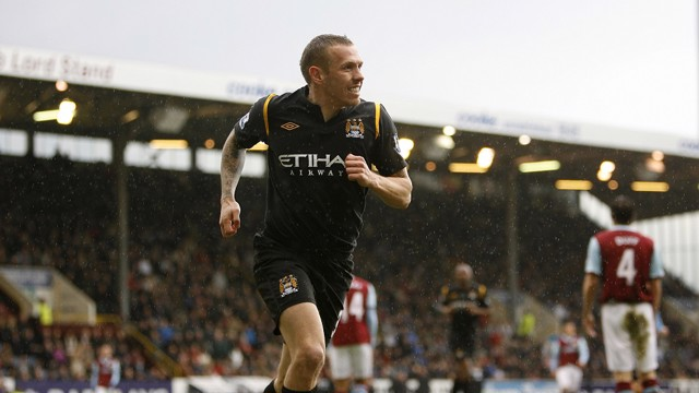 CRAIG BELLAMY: Leads the rout at Turf Moor in 2010
