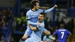 DYNAMIC DUO: Aguero and Silva have had plenty of success against Chelsea over the years