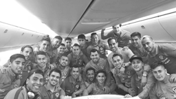 CHILEAN POWER: Claudio Bravo and the Chilean national team on international duty